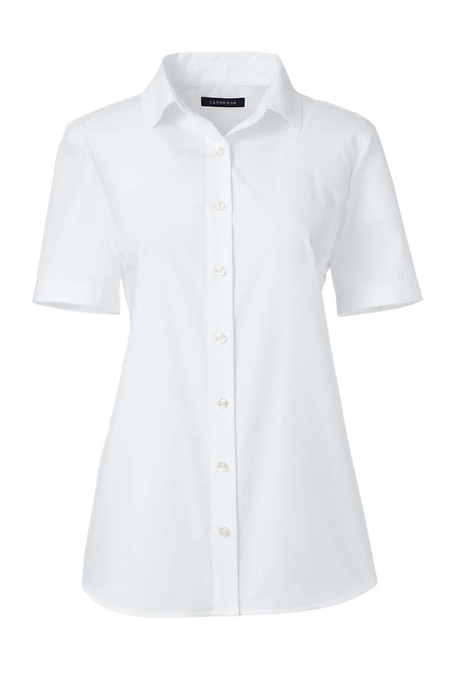 School Uniform Women's Plus Size Short Sleeve Broadcloth Shirt, Front