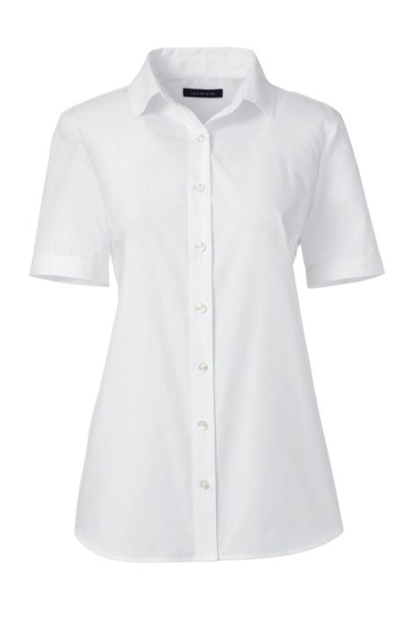 School Uniform Women's Petite Short Sleeve Broadcloth Shirt