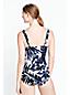 Women's Regular Leaf Print V-neck Slender Swimsuit