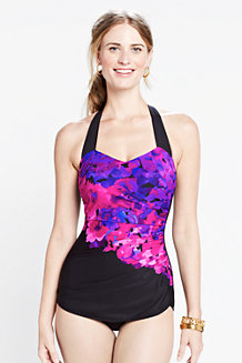 Women's  DD-cup Cascade Floral Slender Tunic Swimsuit