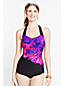 Women's Regular D-cup Cascade Floral Slender Tunic Swimsuit