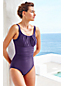 Women's Regular Plain Scoop Neck Slender Swimsuit