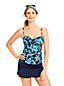 Women's Beach Living A-C Cup Hibiscus Floral Adjustable Scoop Neck Tankini Top