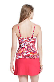 Women's Long Mastectomy Beach Living Adjustable Top, Back