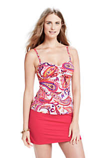 Women's Long Mastectomy Beach Living Adjustable Top, Front