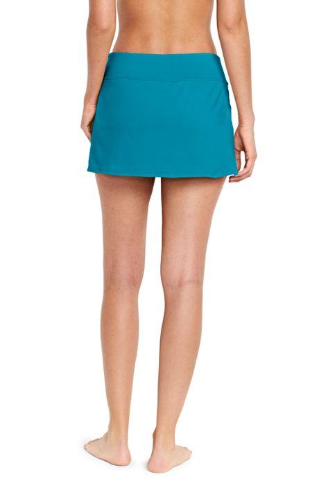 Women's Petite Mini SwimMini Swim Skirt with Tummy Control