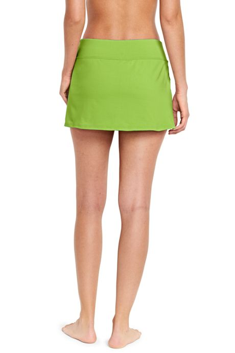Women's Tummy Control Low Rise Sporty Mini Swim Skirt Swim Bottoms