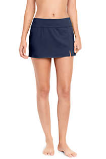 Women's Petite Tummy Control Low Rise Sporty Mini Swim Skirt Swim Bottoms, Front