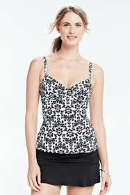 Women's Petite Beach Living Shirred Tankini Top