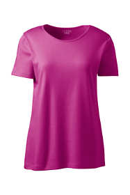 Women's Petite Short Sleeve Jewelneck Tee