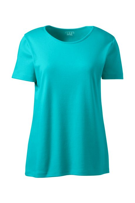 Women's Cotton Polyester Short Sleeve Jewelneck T-shirt