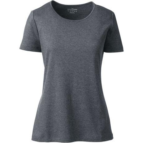 Women's Cotton Polyester Short Sleeve Jewelneck T-shirt