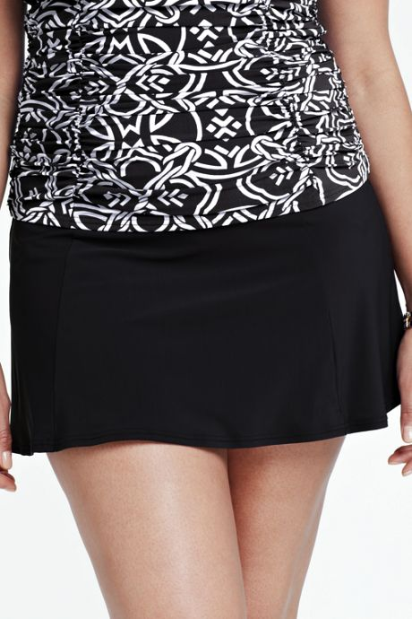Women's Plus Size Shaping Ultra High Waisted SwimMini Skirt with Tummy Control