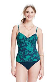 Women's D-cup Shaping Shirred Tankini Top