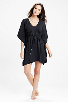 Women's Drawstring Jersey Cover-up