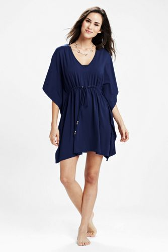 Women's Regular Drawstring Jersey Cover-up