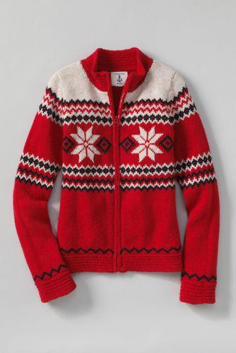 Little Girls' Long Sleeve Zip Front Family Sweater