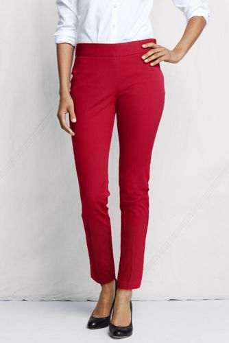 Women's Regular Side-zip Stretch Twill Ankle Trousers