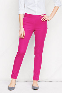 Women's Side-zip Stretch Twill Ankle Trousers