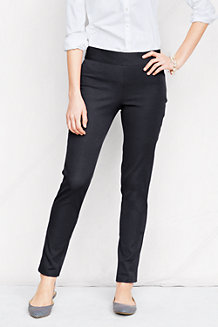 Women's Side-zip Stretch Twill Ankle Trousers
