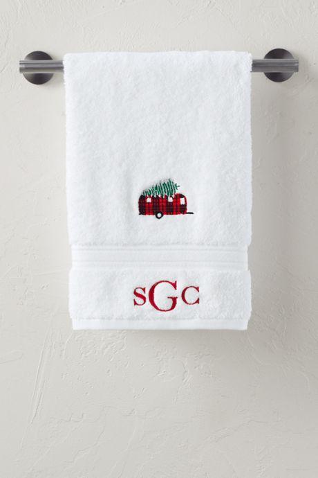 Christmas Embroidered Supima Hand Towel