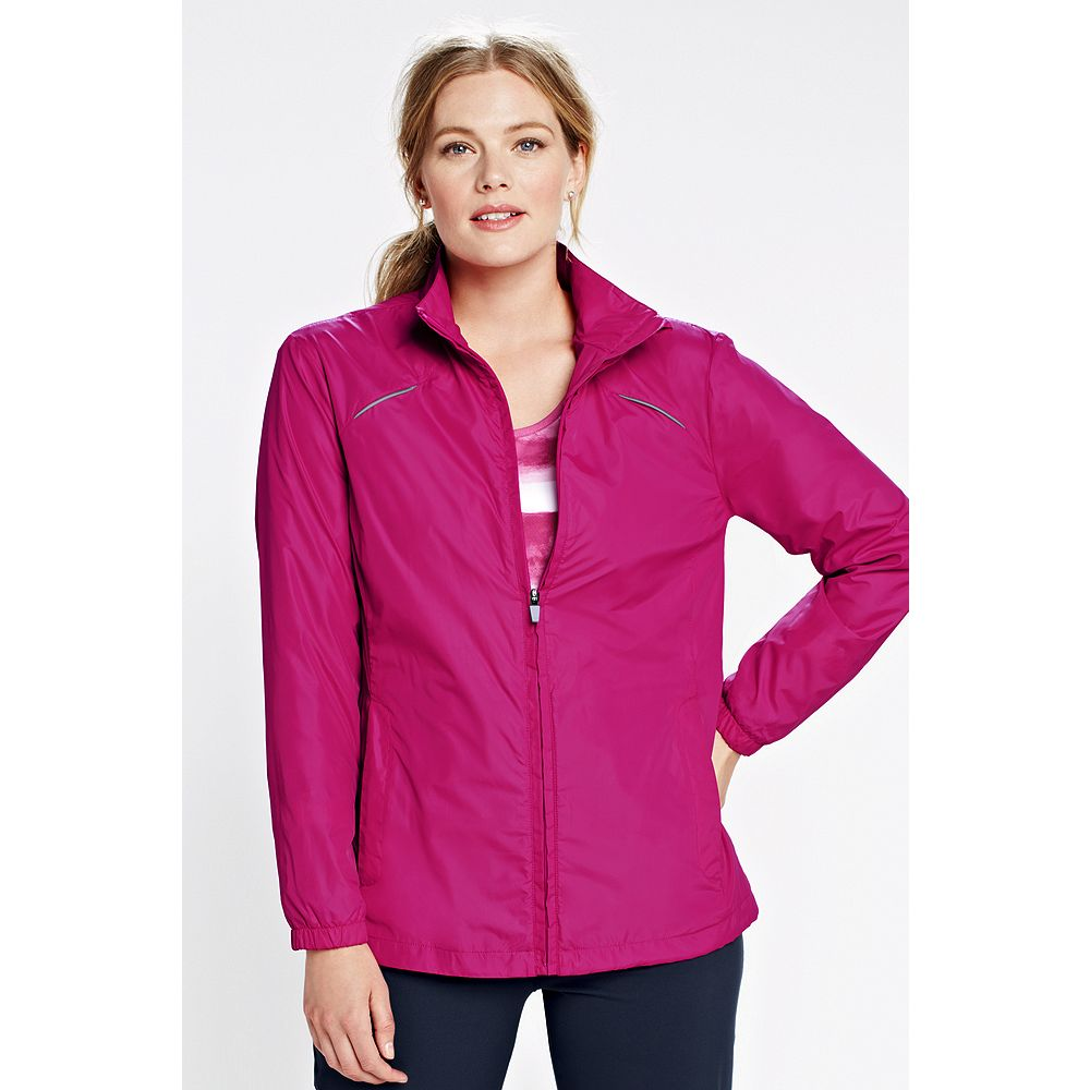 Lands' End Women's Plus Size Performance Windbreaker Jacket at Sears.com