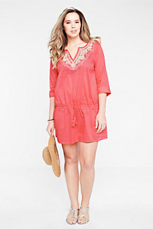 Women's Drawstring Voile Cover-up
