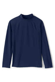School Uniform Boys Husky Long Sleeve Rash Guard