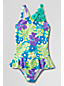 PALMENINSEL Asymmetrischer Badeanzug mit Tüllblüten für kleine Mädchen