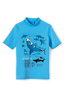 Boys' Short Sleeve Graphic Rash Guard Top