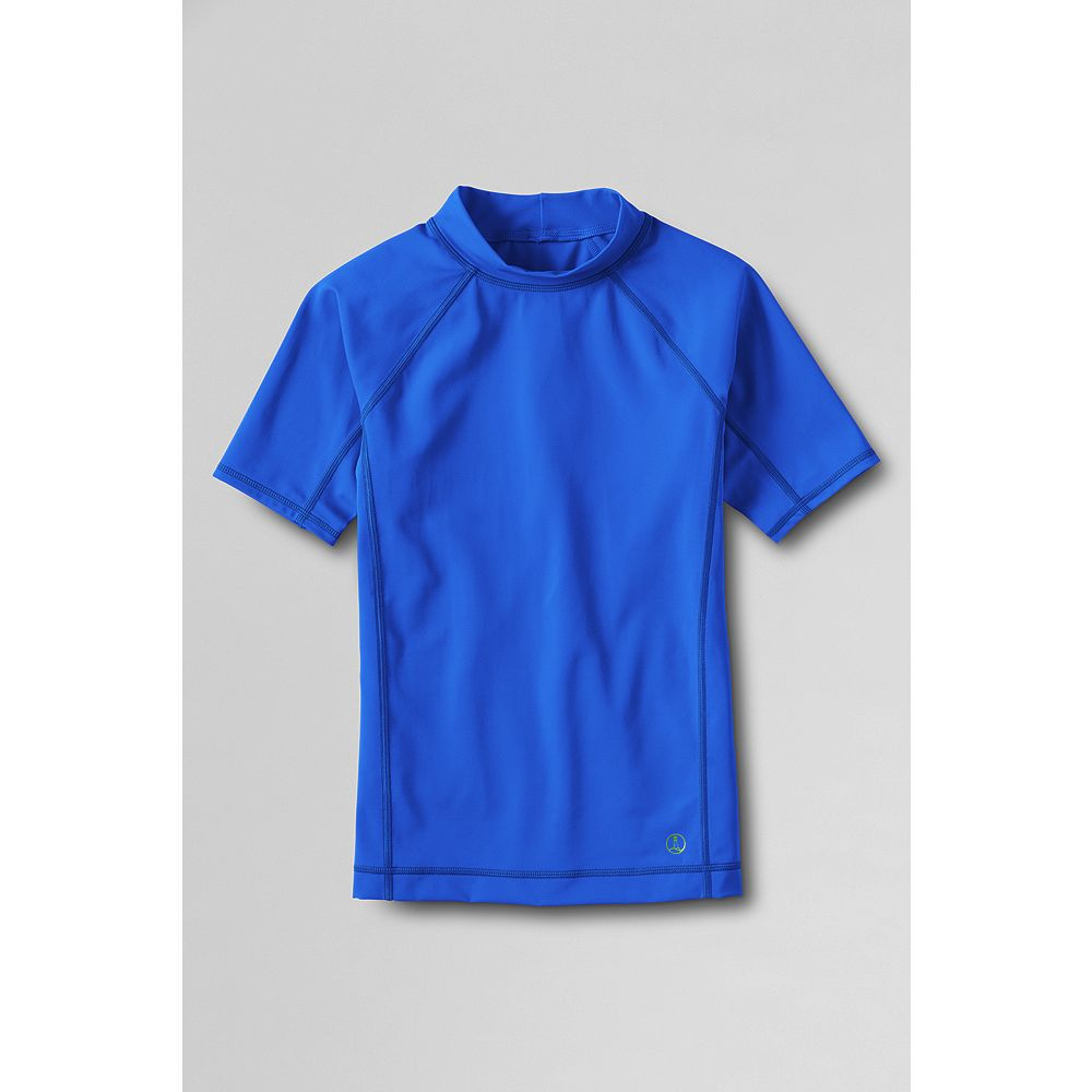 Lands' End Boys' Short Sleeve Solid Rash Guard at Sears.com