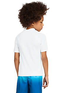Little Boys Short Sleeve UPF 50 Sun Protection Rash Guard, Back