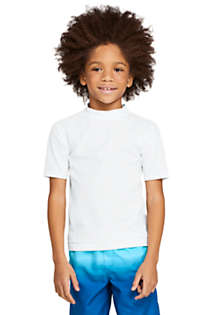 Little Boys Short Sleeve UPF 50 Sun Protection Rash Guard, Front