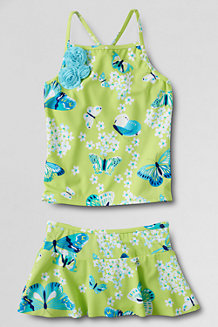 Girls' Coconut Cove Skirted Tankini Set