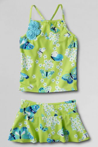 Little Girls' Coconut Cove Skirted Tankini Set