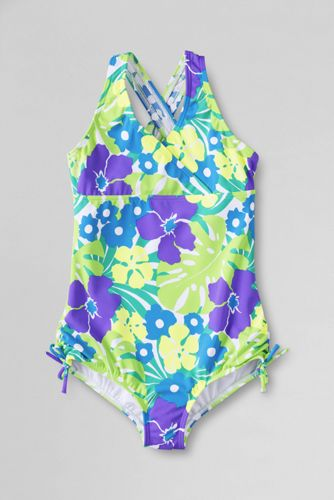 Little Girls' Coconut Cove Gathered Tie-side Swimsuit