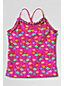 Little Girls' Saltwater Taffy Ruffle-neck Tankini Top