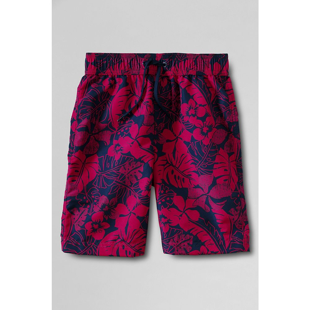 Lands' End Toddler Boys' Hibiscus Swim Trunks