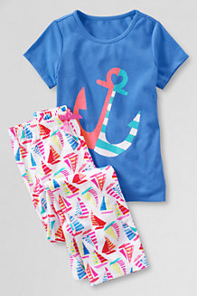 Girls' Jersey Pyjama Set