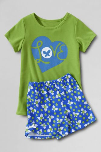 Little Girls' Shortie PJ Set