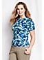 Women's Plus Supima Floral Print Short Sleeve Jumper