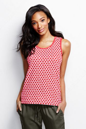 Women's Regular Patterned Cotton Vest Top