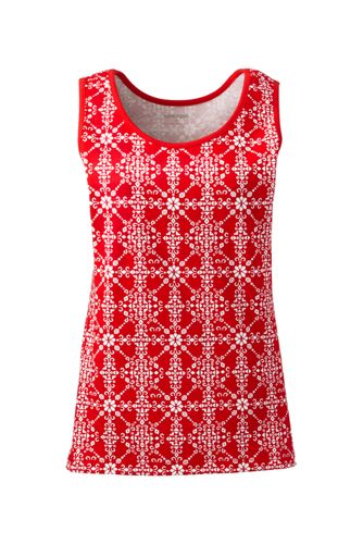 Women's Cotton Tank Top Print by Lands' End