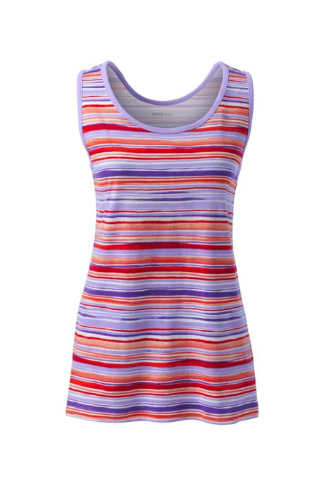 Women's Plus Size Cotton Tank Top Print