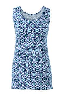Gemustertes Interlock-Baumwolltop für Damen