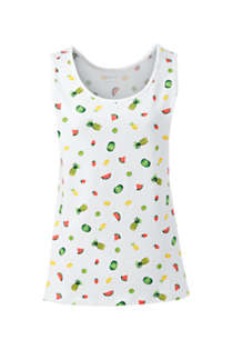 Women's Plus Size Cotton Tank Top Print, Front