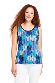 Women's Plus Size Print Cotton Tank Top