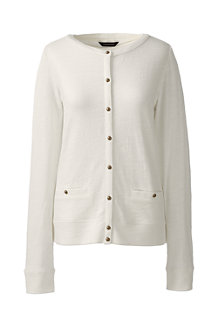 Women's Lightweight Slub Cardigan