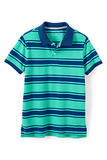 Boys' Striped Piqué Polo
