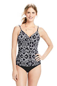 Women's Shaping Surplice Tankini Top